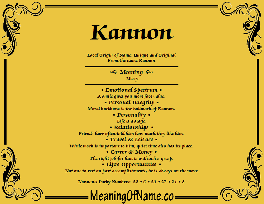 Meaning of Name Kannon