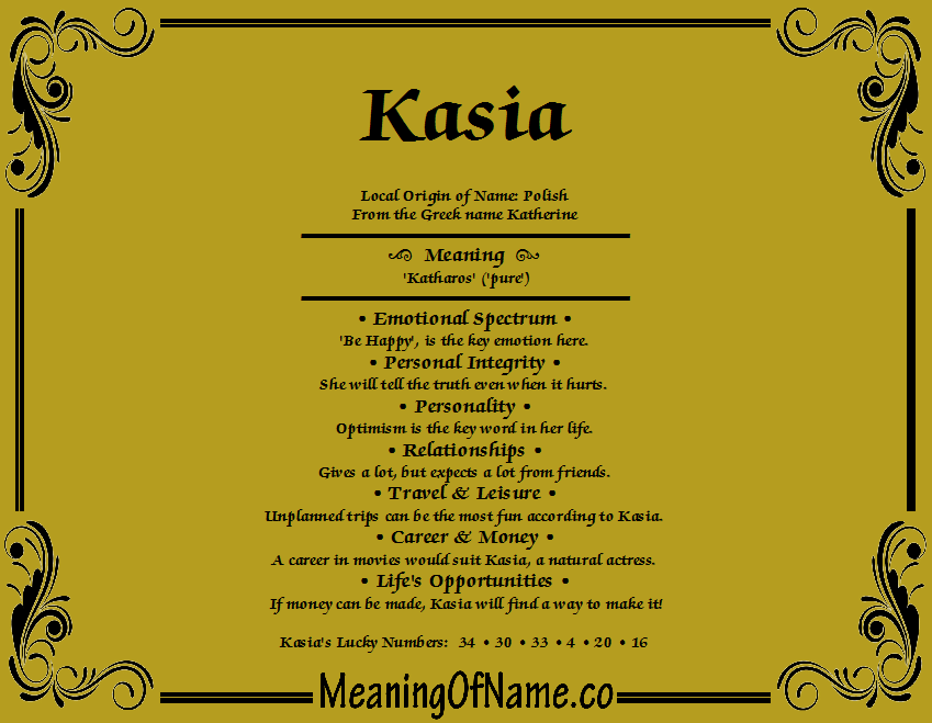 Meaning of Name Kasia