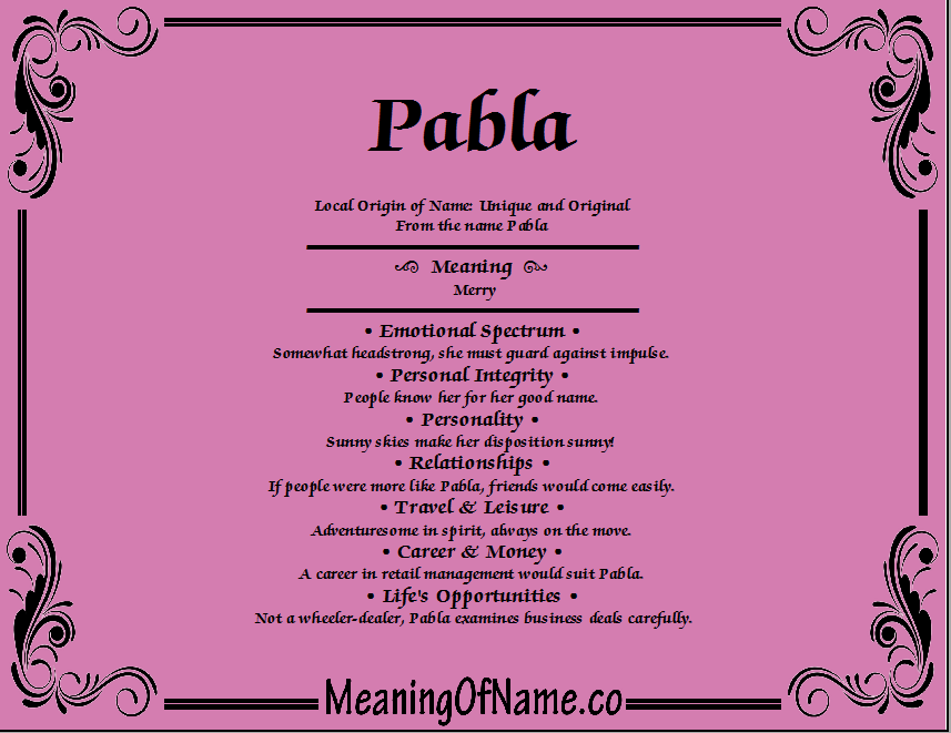 Meaning of Name Pable