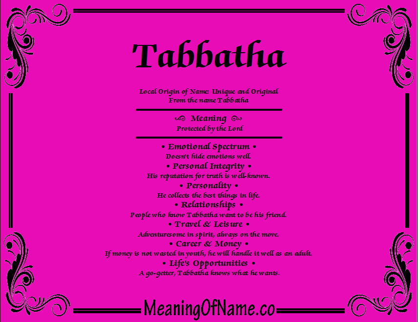 Meaning of Name Tabbatha
